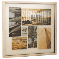 Coastal Collage Framed Wall Art