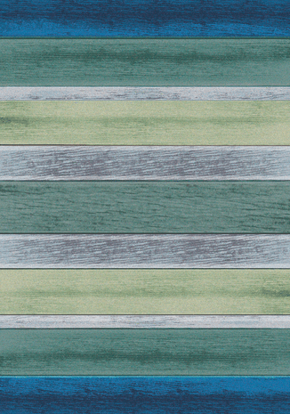 Coastal Colors Striped Rug - 8 x 11