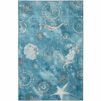 Coastal Dreams Aqua Rug Collection