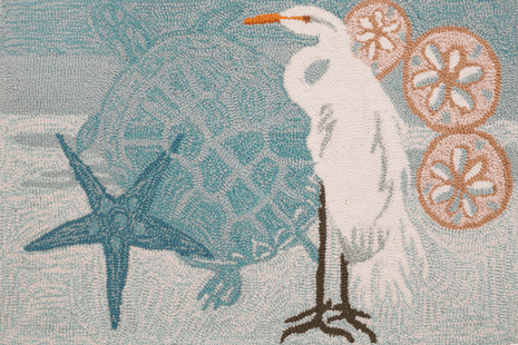 Coastal Egret Accent Rug