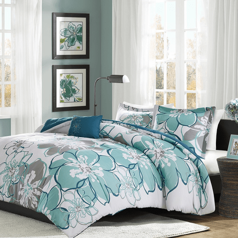 Coastal Flowers Comforter Set - Full/Queen
