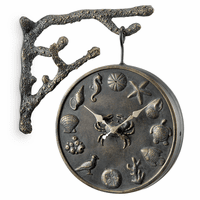 Coastal Garden Clock and Thermometer