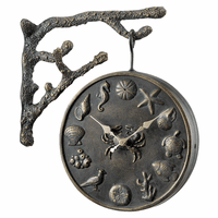 Coastal Garden Clock and Thermometer - OVERSTOCK