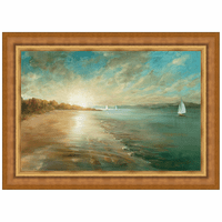 Coastal Glow Framed Canvas