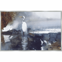 Coastal Lagoon Gull Framed Canvas