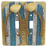 Coastal Shell Double Switch Plate