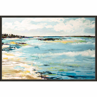 Coastal Surf Framed Canvas - OVERSTOCK