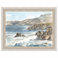 Coastal Watercolor II Framed Print