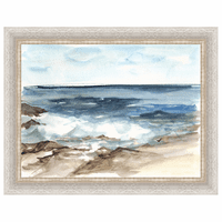 Coastal Watercolor V Framed Print