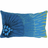 Cobalt Anemone Rectangle Indoor/Outdoor Pillow