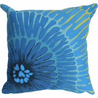 Cobalt Anemone Square Indoor/Outdoor Pillow