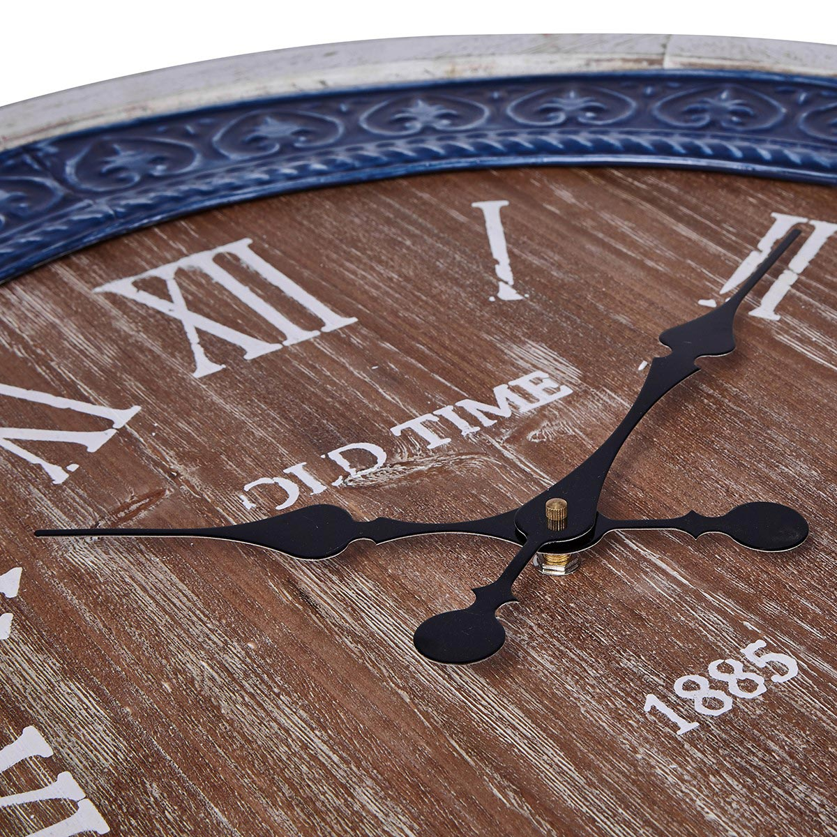 Nautical Clocks Cobalt Tile Wall Clock