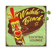 Cocktail Lounge Personalized Sign - 28 x 28