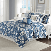 Cocoa Beach 6 Piece Reversible Coverlet Set - King