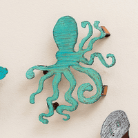 Colorful 3-D Octopus Metal Wall Art