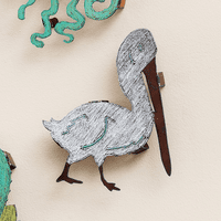 Colorful 3-D Pelican Metal Wall Art - CLEARANCE