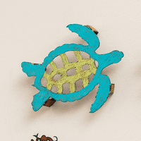 Colorful 3-D Sea Turtle Metal Wall Art