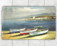 Colorful Boats Dobby Rug