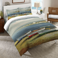 Colorful Boats Duvet Cover - Queen