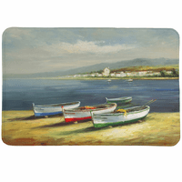 Colorful Boats Memory Foam Rug
