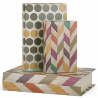 Colorful Book Boxes - Set of 3