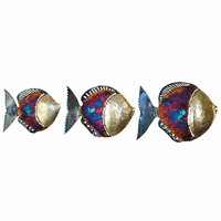 Colorful Copper Dripped Fish - Set of 3