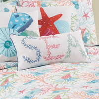 Colorful Coral Sea Pillow