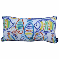 Colorful Fish Indoor/Outdoor Pillow - 24 x 12