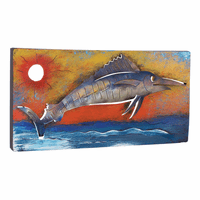 Colorful Marlin Metal Wall Art