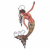 Colorful Mermaid Metal Wall Art