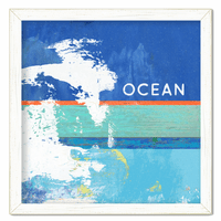 Colorful Ocean Framed Print