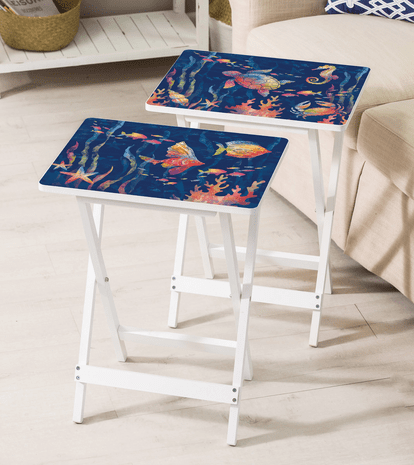 Colorful Ocean TV Trays - Set of 2 - OVERSTOCK