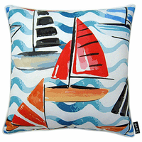 Colorful Sails Indoor/Outdoor Pillow