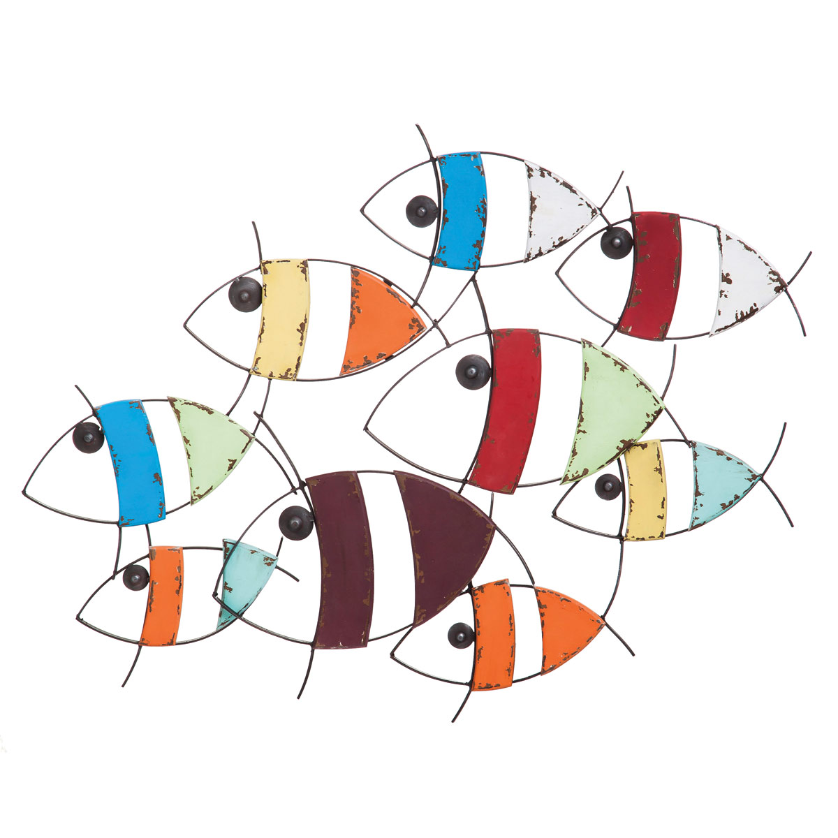Colorful school of fish wall décor