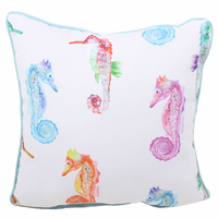 Colorful Seahorse Indoor/Outdoor Pillow
