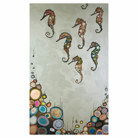 Colorful Seahorses Canvas Art