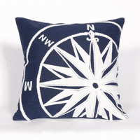 Compass Marine Indoor/Outdoor Square Pillow