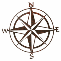 Compass Rose Metal Wall Art - Natural Fusion