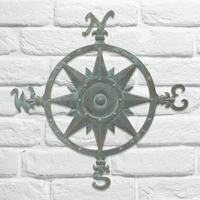 Compass Rose Wall Décor - Bronze Verdigris