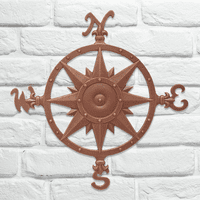 Compass Rose Wall Décor - Classic Copper