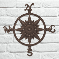 Compass Rose Wall Décor - Oil Rub Bronze