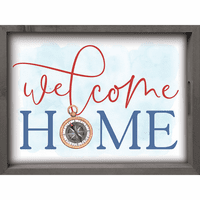 Compass Welcome Serving Tray