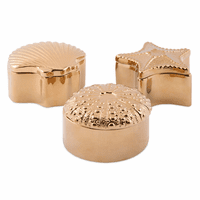 Conchal Gold Shell Boxes - Set of 3