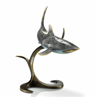 Contemporary Brass Shark Sculpture