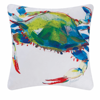 Contemporary Crab Indoor/Outdoor Pillow