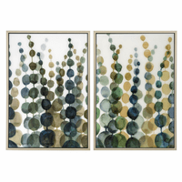 Contemporary Seagrass Framed Art - Set of 2