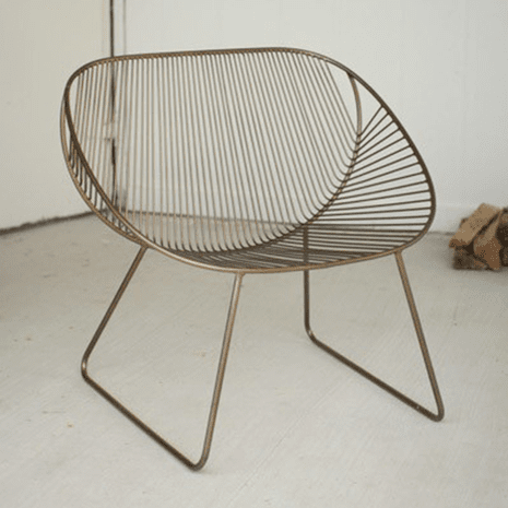 Contemporary Thin Metal Chair