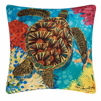 Contemporary Turtle Indoor/Outdoor Pillow