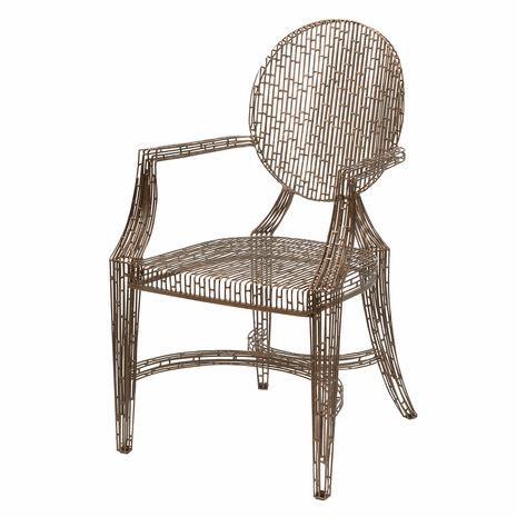 Contemporary Wire Frame Arm Chair