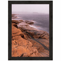Contemptuous Sea Framed Canvas